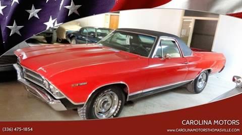 1969 Chevrolet El Camino for sale at CAROLINA MOTORS - Carolina Classics & More-Thomasville in Thomasville NC