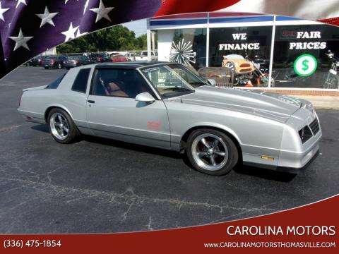 1987 Chevrolet Monte Carlo for sale at CAROLINA MOTORS - Carolina Classics & More-Thomasville in Thomasville NC