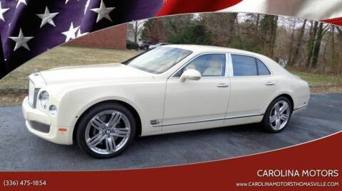 2012 Bentley Mulsanne for sale at CAROLINA MOTORS - Carolina Classics & More-Thomasville in Thomasville NC