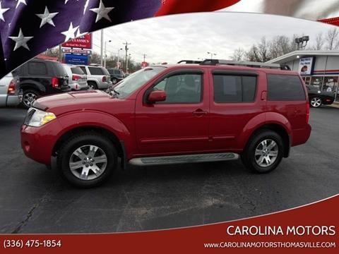 2010 Nissan Pathfinder SE for sale at CAROLINA MOTORS in Thomasville NC