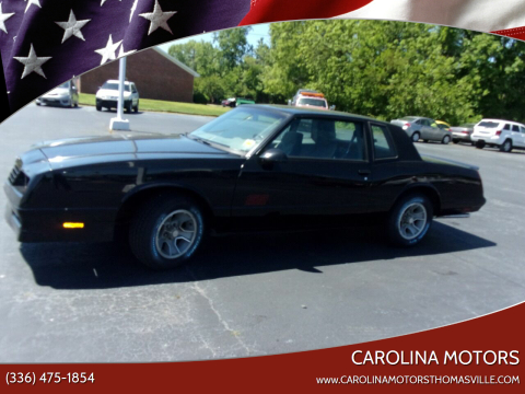 1988 Chevrolet Monte Carlo for sale at CAROLINA MOTORS in Thomasville NC