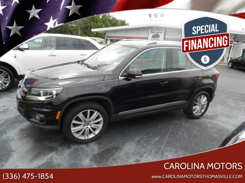 2012 Volkswagen Tiguan for sale at CAROLINA MOTORS in Thomasville NC