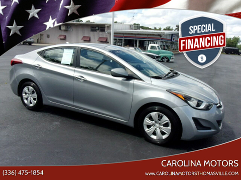 2016 Hyundai Elantra for sale at CAROLINA MOTORS - Carolina Classics & More-Thomasville in Thomasville NC