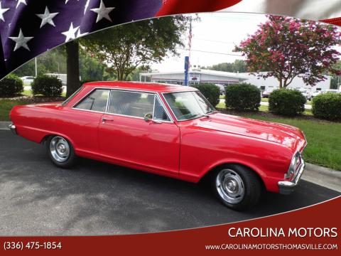 1965 Chevrolet Nova for sale at CAROLINA MOTORS in Thomasville NC