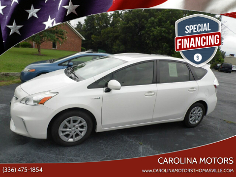 2013 Toyota Prius v for sale at CAROLINA MOTORS in Thomasville NC