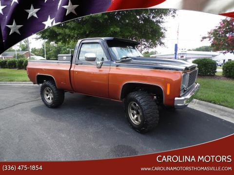 1976 Chevrolet Silverado 1500 for sale at CAROLINA MOTORS in Thomasville NC