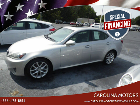 2011 Lexus IS 250 for sale at CAROLINA MOTORS - Carolina Classics & More-Thomasville in Thomasville NC