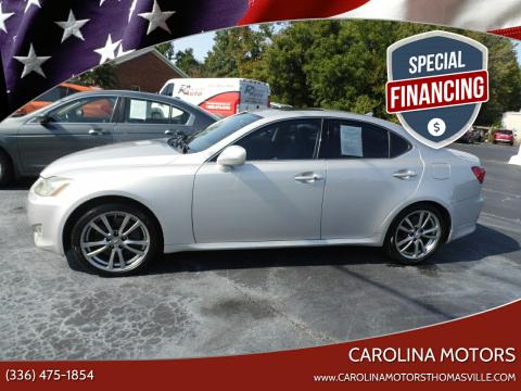 2008 Lexus IS 350 for sale at CAROLINA MOTORS - Carolina Classics & More-Thomasville in Thomasville NC