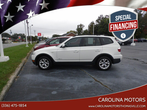 2010 BMW X3 for sale at CAROLINA MOTORS in Thomasville NC