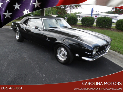 1968 Chevrolet Camaro for sale at CAROLINA MOTORS in Thomasville NC