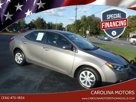 2014 Toyota Corolla for sale at CAROLINA MOTORS in Thomasville NC