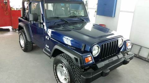 2003 Jeep Wrangler for sale at SODA MOTORS AUTO SALES LLC in Newport RI