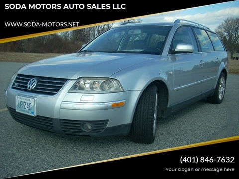 2003 Volkswagen Passat for sale at SODA MOTORS AUTO SALES LLC in Newport RI