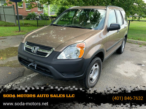 2003 Honda CR-V for sale at SODA MOTORS AUTO SALES LLC in Newport RI