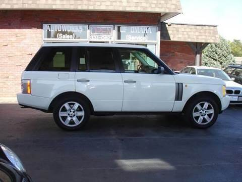 2004 Land Rover Range Rover for sale at AUTOWORKS OF OMAHA INC in Omaha NE