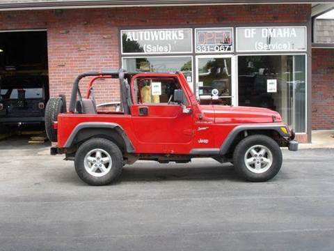 2000 Jeep Wrangler for sale at AUTOWORKS OF OMAHA INC in Omaha NE