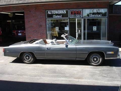 1976 Cadillac Eldorado for sale at AUTOWORKS OF OMAHA INC in Omaha NE