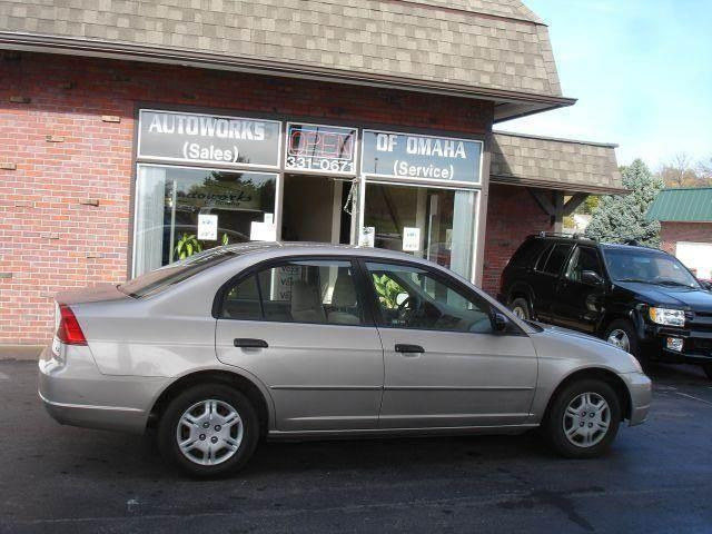 2001 Honda Civic for sale at AUTOWORKS OF OMAHA INC in Omaha NE