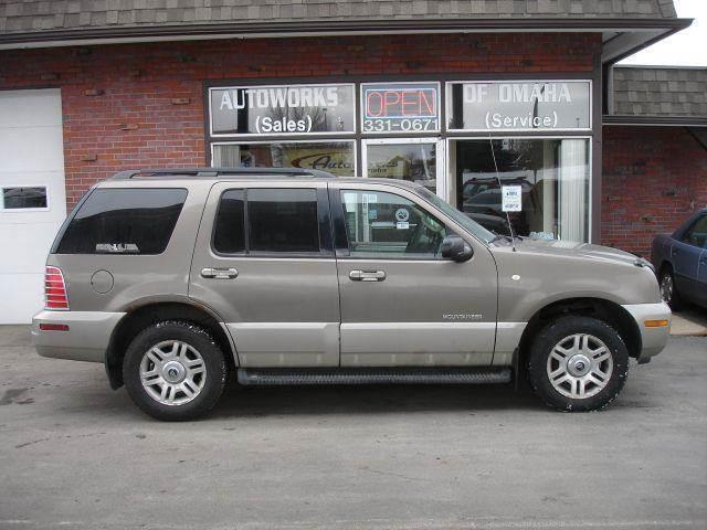 2002 Mercury Mountaineer for sale at AUTOWORKS OF OMAHA INC in Omaha NE