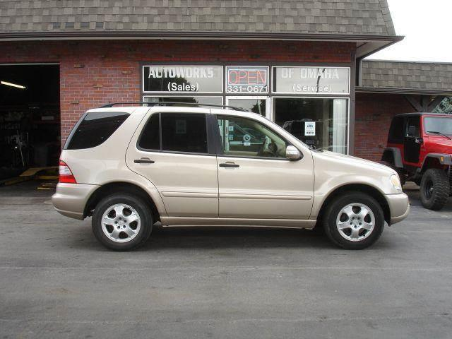 2002 Mercedes-Benz M-Class for sale at AUTOWORKS OF OMAHA INC in Omaha NE
