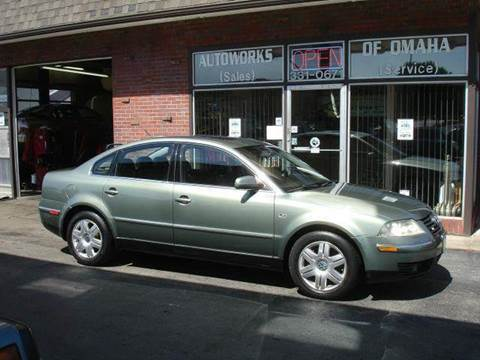 2002 Volkswagen Passat for sale at AUTOWORKS OF OMAHA INC in Omaha NE