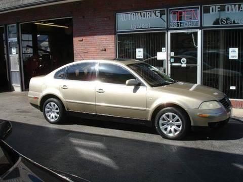 2001 Volkswagen Passat for sale at AUTOWORKS OF OMAHA INC in Omaha NE