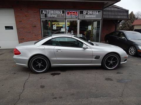 2003 Mercedes-Benz SL-Class for sale at AUTOWORKS OF OMAHA INC in Omaha NE