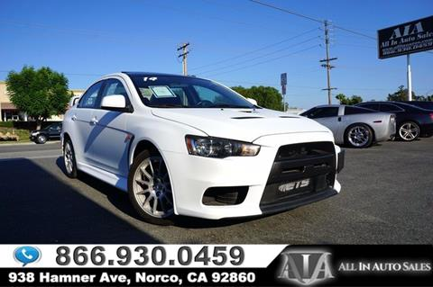 2014 Mitsubishi Lancer Evolution for sale in Norco, CA