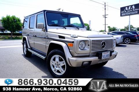 2002 Mercedes-Benz G-Class for sale in Norco, CA