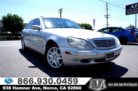 2001 Mercedes-Benz S-Class for sale in Norco, CA