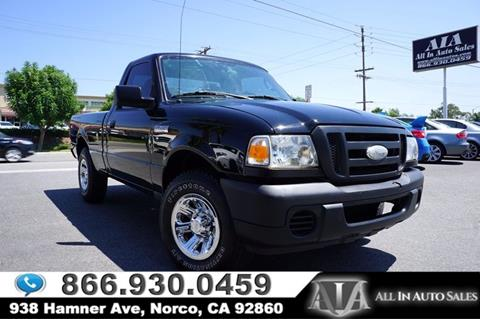 2008 Ford Ranger for sale in Norco, CA