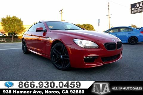 2013 BMW 6 Series for sale in Norco, CA