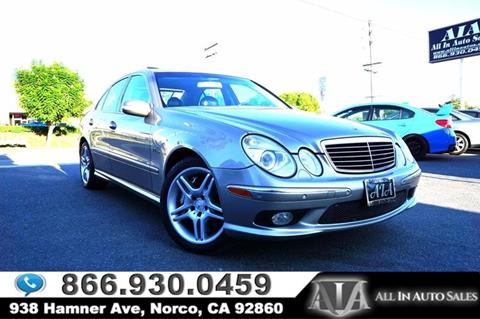 2004 Mercedes-Benz E-Class for sale in Norco, CA