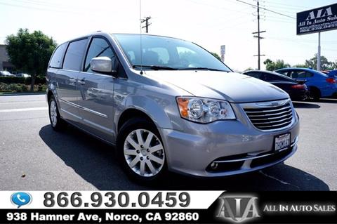 2014 Chrysler Town and Country for sale in Norco, CA