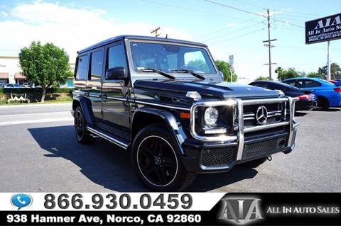 2015 Mercedes-Benz G-Class for sale in Norco, CA