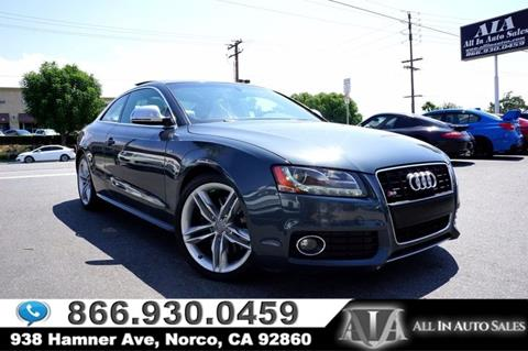 2009 Audi S5 for sale in Norco, CA