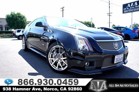 2011 Cadillac CTS-V for sale in Norco, CA