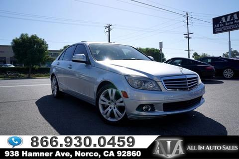 2008 Mercedes-Benz C-Class for sale in Norco, CA