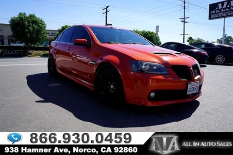 2008 Pontiac G8 for sale in Norco, CA