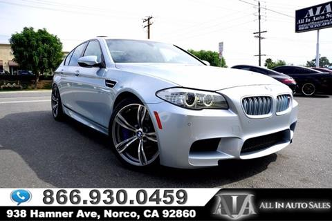2013 BMW M5 for sale in Norco, CA