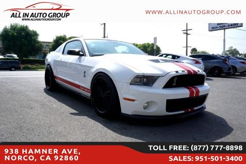 2012 Ford Shelby GT500 for sale in Norco, CA