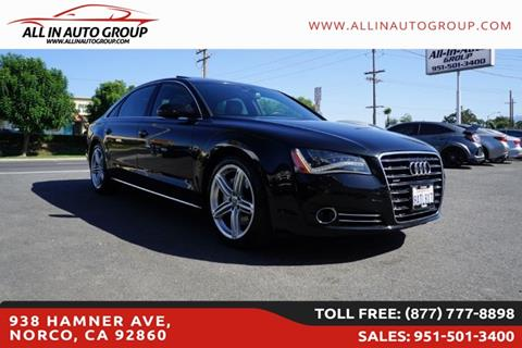 2013 Audi A8 L for sale in Norco, CA