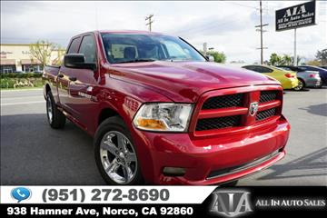 2012 RAM Ram Pickup 1500 for sale in Norco, CA