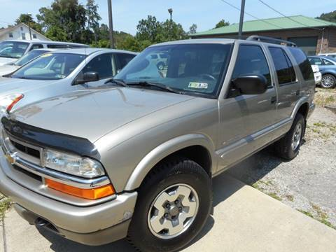 2002 Chevrolet Blazer for sale at Sleepy Hollow Motors in New Eagle PA