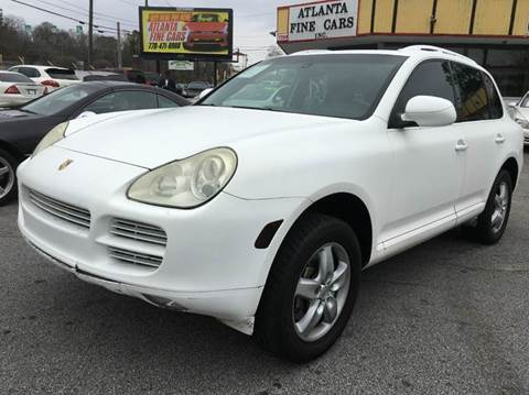 2004 Porsche Cayenne for sale at Atlanta Fine Cars in Jonesboro GA
