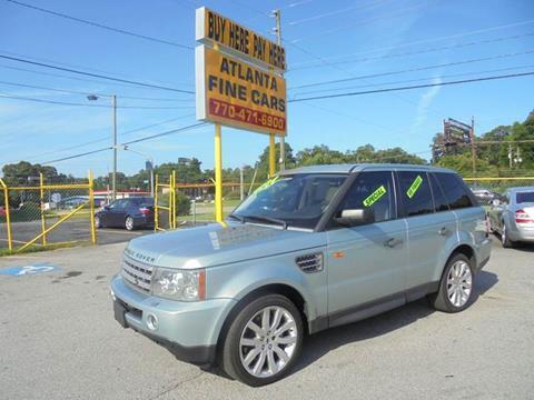 2006 Land Rover Range Rover Sport for sale at Atlanta Fine Cars in Jonesboro GA