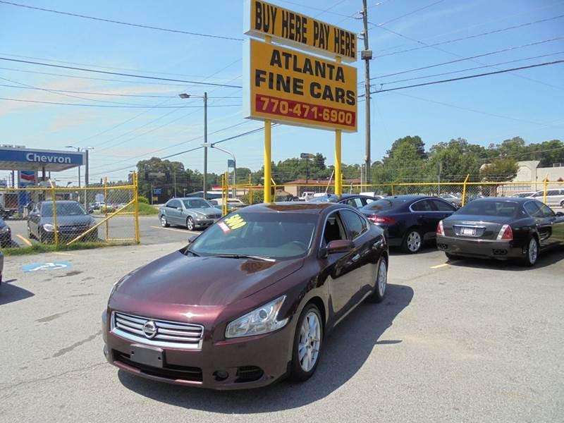 2014 nissan maxima 3 5 s 4dr sedan in jonesboro ga atlanta fine cars. Black Bedroom Furniture Sets. Home Design Ideas