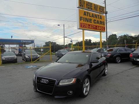 2009 Audi A5 for sale at Atlanta Fine Cars in Jonesboro GA