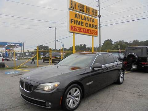 2011 BMW 7 Series for sale at Atlanta Fine Cars in Jonesboro GA