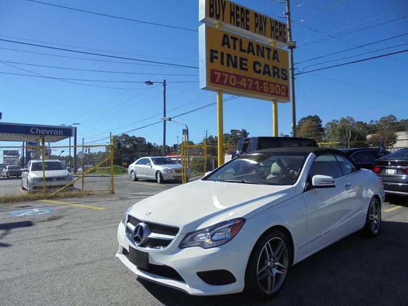 2014 Mercedes-Benz E-Class for sale at Atlanta Fine Cars in Jonesboro GA
